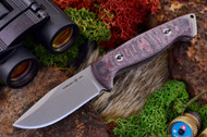 Ambush Sentry - Stonewashed - Sculpted Black & Red Linen Micarta