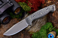 Ambush Sentry - Stonewashed - Sculpted Black & Green Linen Micarta