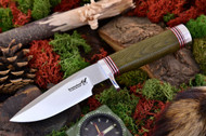 Blackjack 124 Green Canvas Micarta