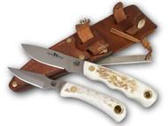Knives of Alaska Alpha Wolf S30V / Cub Bear Combo - Stag