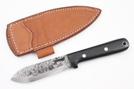 Lon Humphrey Brute de Forge Kephart Black Canvas Micarta - Scandi Ground #9