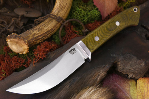 Bark River Classic Trailing Point CPM154 Green Canvas Micarta