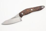 True Saber N2 20CV Neck Knife - Stabalized Maple Burl - Dark Green & Brown