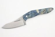 True Saber N2 20CV Neck Knife - Stabalized Blue Buckeye Burl