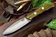 Canadian Special 3V Green Canvas Micarta - Red Liners