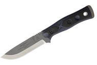 TOPS Brothers of Bushcraft Knife - Black & Blue G-10 - 154CM Stainless Steel