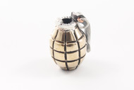Lion ARMory Hand Grenade Bead - Brass/Silver Limited Edition