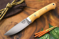 Bark River Classic Utility Caper Antique Ivory Micarta - Red Liners - Mosaic Pins