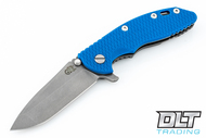 "Hinderer 3.5"" XM-18 No Choil Spanto M390 - Working Finish - Blue G-10"