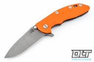 "Hinderer 3.5"" XM-18 No Choil Spanto M390 - Working Finish - Orange G-10"