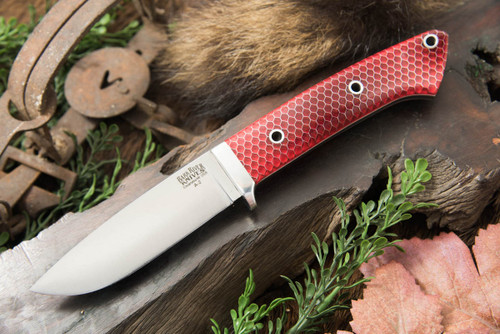 Bark River Classic Drop Point Hunter A2 Red C-Tek - White Liners - Hollow Pins