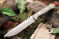 Bark River Bravo 1.5 S35VN Green Canvas Micarta - Matte