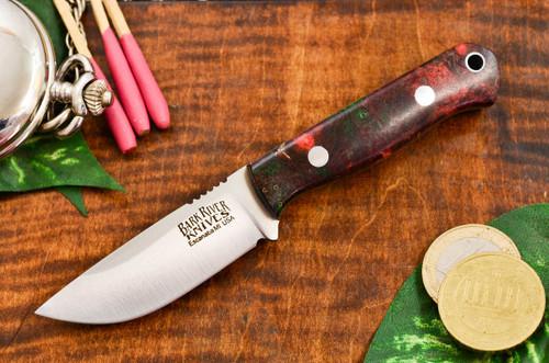 Bark River Bravo Micro Elmax Scarlet & Green Maple Burl