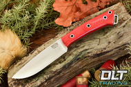 Fox River LT 3V Red Linen Micarta - Hollow Pins