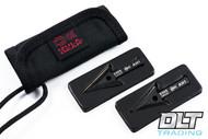 ESEE Cordura Survival Wallet - 2 Arrowheads Incl. - Black Blade