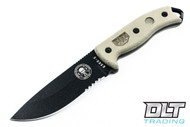 ESEE 5S - Partially Serrated - Black Blade