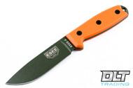 ESEE 4P - M.O.L.L.E Back - Orange Handles - Olive Drab Blade