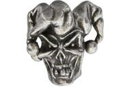 Jester Skull Pewter Bead