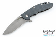 "Hinderer 3.5"" XM-18 No Choil Spanto M390 - Working Finish - Grey G-10"