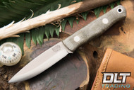 Mini Bushcrafter 3V Green Canvas Micarta - Matte Finish