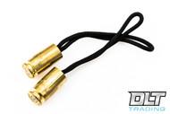Hollow-Point Gear Zipper Pull - Brass