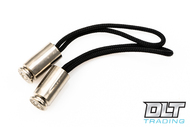 Hollow-Point Gear Zipper Pull - Nickel