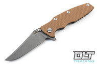 Hinderer Eklipse Bowie - Coyote G-10 - Full Working Finish