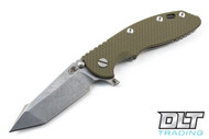 "Hinderer 3.5"" XM-18 Fatty Harpoon Tanto - OD Green G-10"