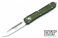 Microtech 121-4OD Ultratech S/E - OD Green Handle - Contoured - Satin Blade