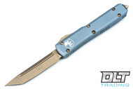 Microtech 123-13GY Ultratech S/E - Grey Handle - Contoured - Bronze Blade