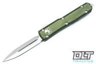 Microtech 122-4OD Ultratech D/E - OD Green Handle - Contoured - Satin Blade