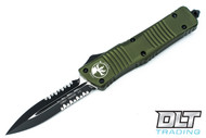 Microtech 142-2OD Combat Troodon D/E - OD Green Handle - Black Blade - Partially Serrated