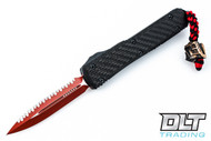 Microtech 122-3LV Ultratech D/E - Carbon Fiber Handle - Red Blade