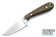 LT Wright Frontier First A2 - Flat Ground - Green Micarta - Matte