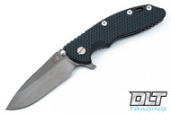 "Hinderer 3.5"" XM-18 Spear Point - Battle Anthracite DLC - Dark Green & Black G-10"