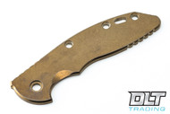"Hinderer 3.5"" XM-18 Smooth Titanium Handle Scale - Bronze"