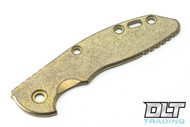 "Hinderer 3.5"" XM-18 Smooth Titanium Handle Scale - Gold & Bronze"