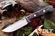 Bravo 1 CPM M4 Black Canvas Micarta - Matte Finish