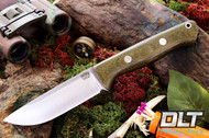 Bravo 1 CPM M4 Green Canvas Micarta - Rampless
