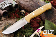 Bravo 1 CPM M4 Natural Canvas Micarta - Rampless
