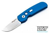 Pro-Tech Calmigo - Blue Handle - Satin Blade