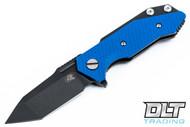 Hinderer Half Track Tanto - Blue G-10 - Battle Black