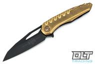 Microtech 196-16DLCBR Sigil - Brass Handle - DLC Blade
