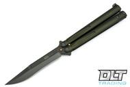 Microtech 173-1GR Tachyon III S/E - Green Handle - Green Blade