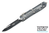 Microtech 121-1CL Ultratech S/E - Clear Top - Contoured - Two-Tone Black Blade