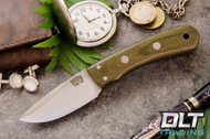 Essential CPM-154 - No Bolster - Green Canvas Micarta