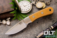 Essential CPM-154 Natural Canvas Micarta - Green Liners