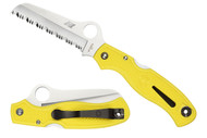 Spyderco Atlantic Salt - Yellow - Fully Serrated