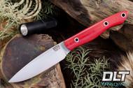 Kalahari Thorn CPM-154 Red Linen Micarta - Hollow Pins