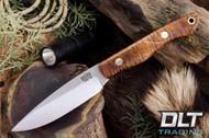Kalahari Thorn CPM154 Dark Curly Maple - Red Liners - Brass Hardware - #2
